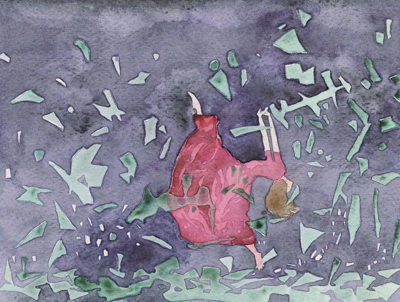 ▲日记体20151224殇 纸本20×15cm 2015年,李蕾:语言是危险的,所以画画吧,李蕾,绘画,纸本,日记体,作业,之外,言语,油画,爱意,底部