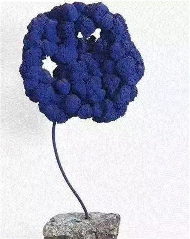Untitled Blue Sponge Sculpture,蓝色迷思| 香港艺游02.,蓝色,迷思,香港,雕塑,生物,头像,李禹焕,日本,阿尔特,人体