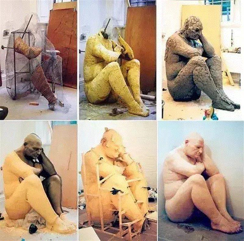 这是世界上最震撼人心的超写实人体,真实到令人恐惧,放大100倍都不怕!,世界上,人体,雕塑,Mueck,人物,模特,潜能,模型,电影,皮肤