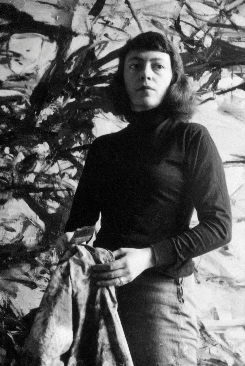 琼·米歇尔在其纽约圣马可广场的工作室,1957年,卓纳画廊 | 纽约 | 琼·米歇尔(Joan Mitchell):我将风景寄于心,米歇尔,卓纳,Joan,Mitchell,遗产,基金会,纽约琼,画板,绘画,米歇尔基金会