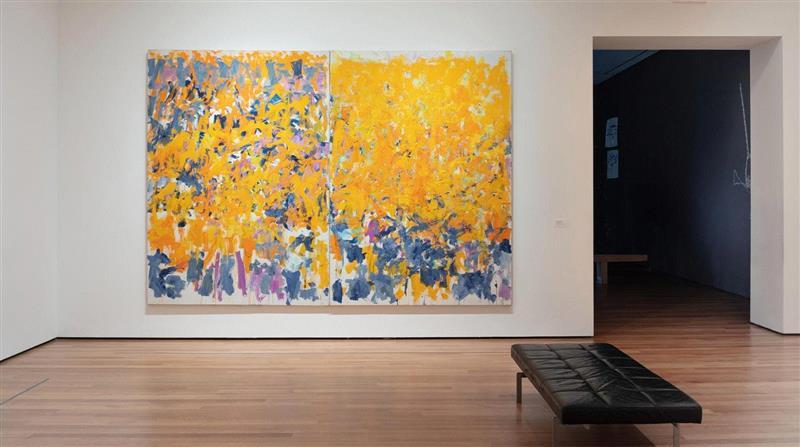 展览现场,《长跑》,纽约现代艺术博物馆,2017-2019,卓纳画廊 | 纽约 | 琼·米歇尔(Joan Mitchell):我将风景寄于心,米歇尔,卓纳,Joan,Mitchell,遗产,基金会,纽约琼,画板,绘画,米歇尔基金会