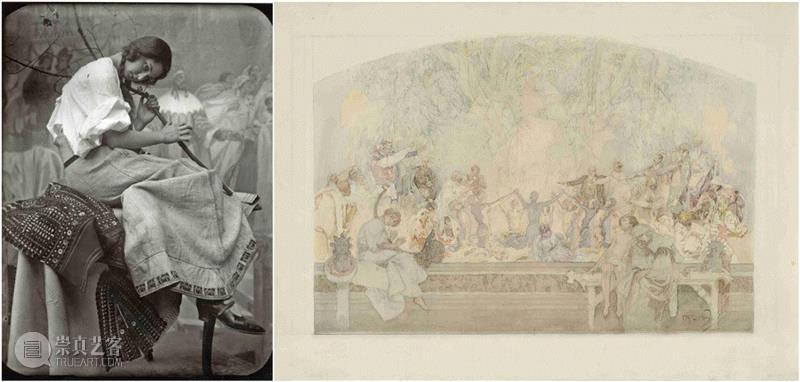 1925-1926年 原玻璃板底片现代翻印,24 x 18厘米,PAM最全观展指南!《慕夏Mucha》大展不可不知的一切~,PAM,观展指南,慕夏Mucha,慕夏,明珠美术馆,斯拉夫,Mucha,Trust,捷克,巴黎