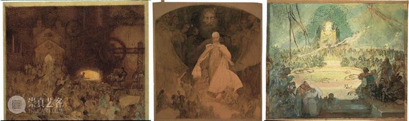 1936-1938年 铅笔和水彩纸本,30.5 x 35.5厘米,PAM最全观展指南!《慕夏Mucha》大展不可不知的一切~,PAM,观展指南,慕夏Mucha,慕夏,明珠美术馆,斯拉夫,Mucha,Trust,捷克,巴黎