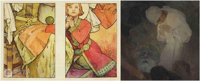 1931年 水墨和水彩纸本,92 x 139.5厘米,PAM最全观展指南!《慕夏Mucha》大展不可不知的一切~,PAM,观展指南,慕夏Mucha,慕夏,明珠美术馆,斯拉夫,Mucha,Trust,捷克,巴黎