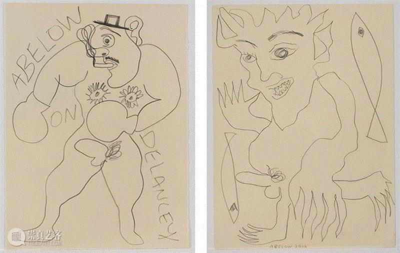 Abelow on Delancey,2013(Left)/ Untitled,2012(Right