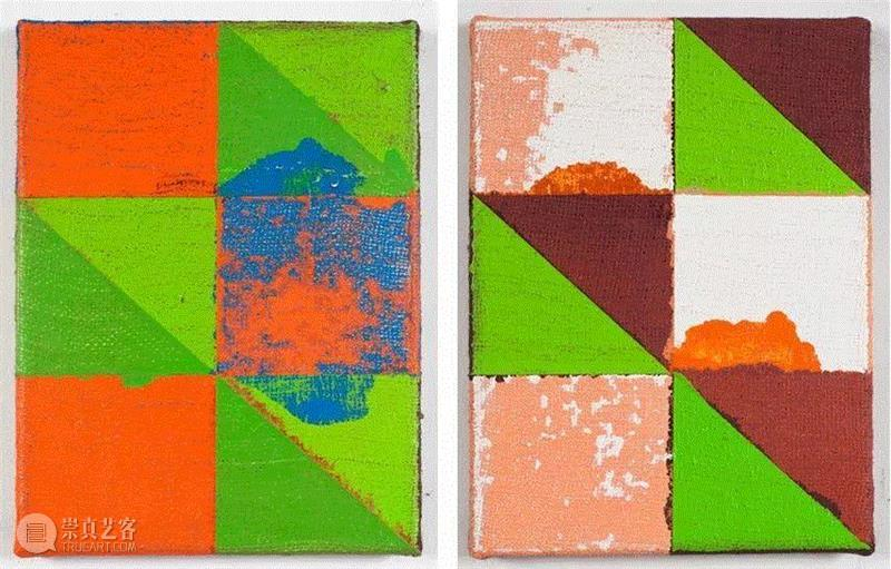 Untitled (Abstraction NUU), 2012 (Left) / Untitled