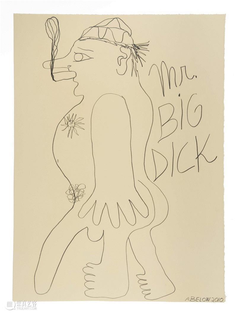 untitled ( Mr Big Dick ), 2010,同行/做一个勇于自黑的艺术家   Joshua Abelow,同行,博客,视频,绘画,诗歌,James,Fuentes,人物,徐震,Joshua
