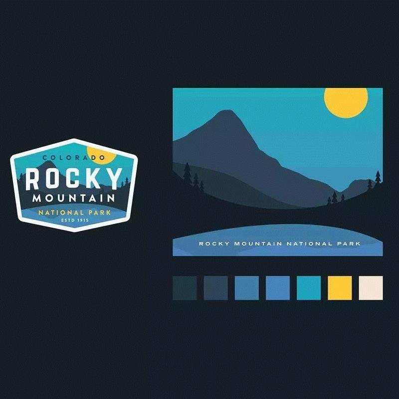 平面丨这些风景卡片,太赞了!,卡片,庞门,正道,上方,右上,artman,design,配色,上面,贴纸