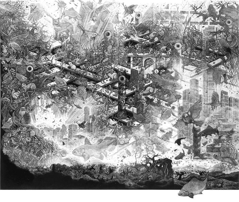小林敬生KeiseiKobayashi,亚洲展讯 | 生逢其时 - 小林敬生 & 陈琦作品展,陈琦,小林,亚洲,展讯,版画,日本,英国,木刻,美术馆,水印