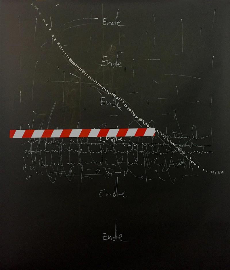 I,Marker and tape on paper 纸上马克笔和胶带,160 x 150 cm,2