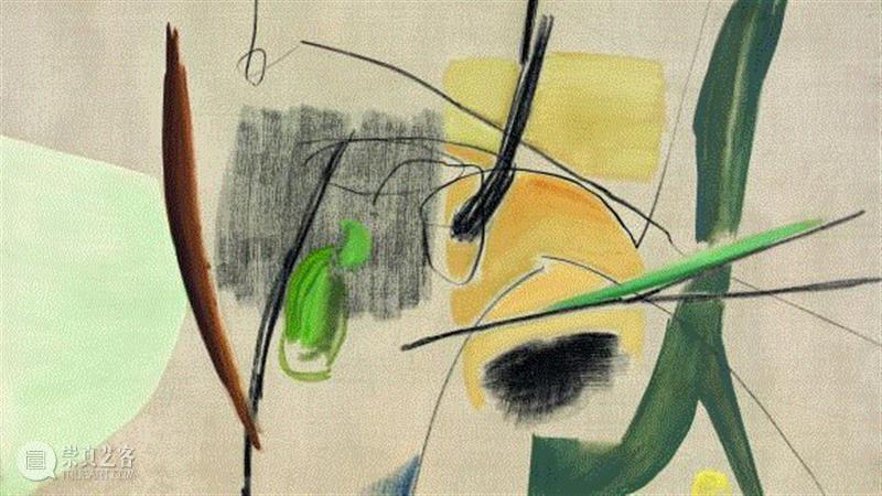 Hans Hartung,T1937-33, 1937,汉斯·哈同|情绪的力量,艺术史,哈同,Hartung,汉斯,汉斯·哈同,抽象绘画,抒情抽象