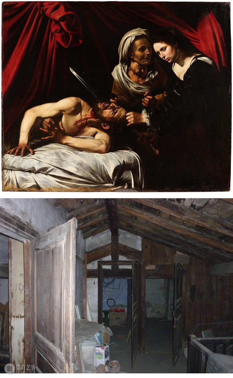 卡拉瓦乔名画《朱迪斯与赫罗弗尼斯》图片版权:Cabinet Turquin(上)发现卡拉瓦乔油画的图