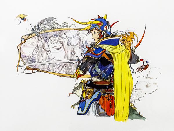 天野喜孝,最终幻想 I,1987 - 王女与光之战士.jpg