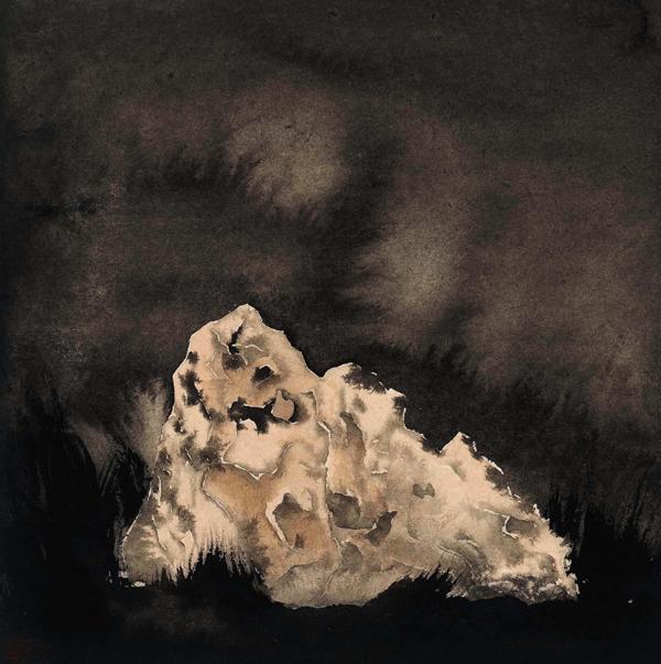 靳骐沣 湖石 34cm×34cm 国画 纸本水墨 2015年 中央美术学院;24314-1.jpg