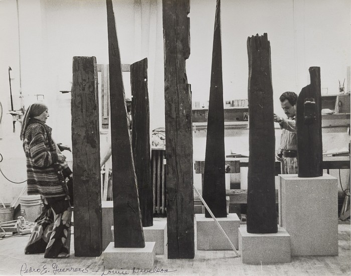 Estate of Pedro E. Guerrero, Louise Nevelson with Salvaged Wood Sculpture, 1978, source, edwardcella.com.jpg