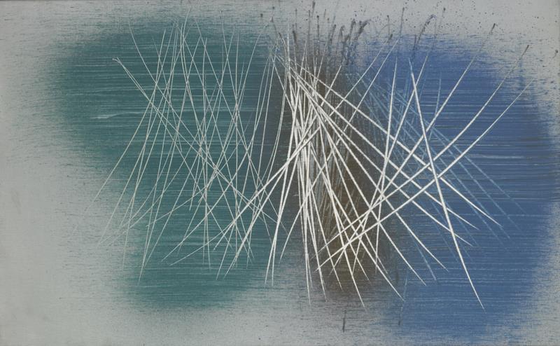 汉斯·哈同 《1961-72,1961 》 布面油画 65x105厘米 1962.jpg