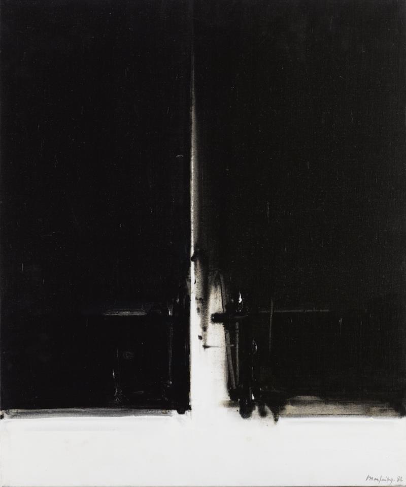 安德烈·马菲恩《白色垂直, 1982》布面油画73.2 x 60 cm  1975.jpg