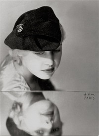 dora-kallmus-(madame-dora)-mirrored-image-with-hat;-model-in-lace-(2-works).jpg