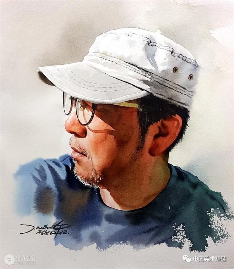 水彩人物可以这么表现 水彩 人物 韩国 画家 Hun sung 色彩 画面 炭笔 Jung 崇真艺客