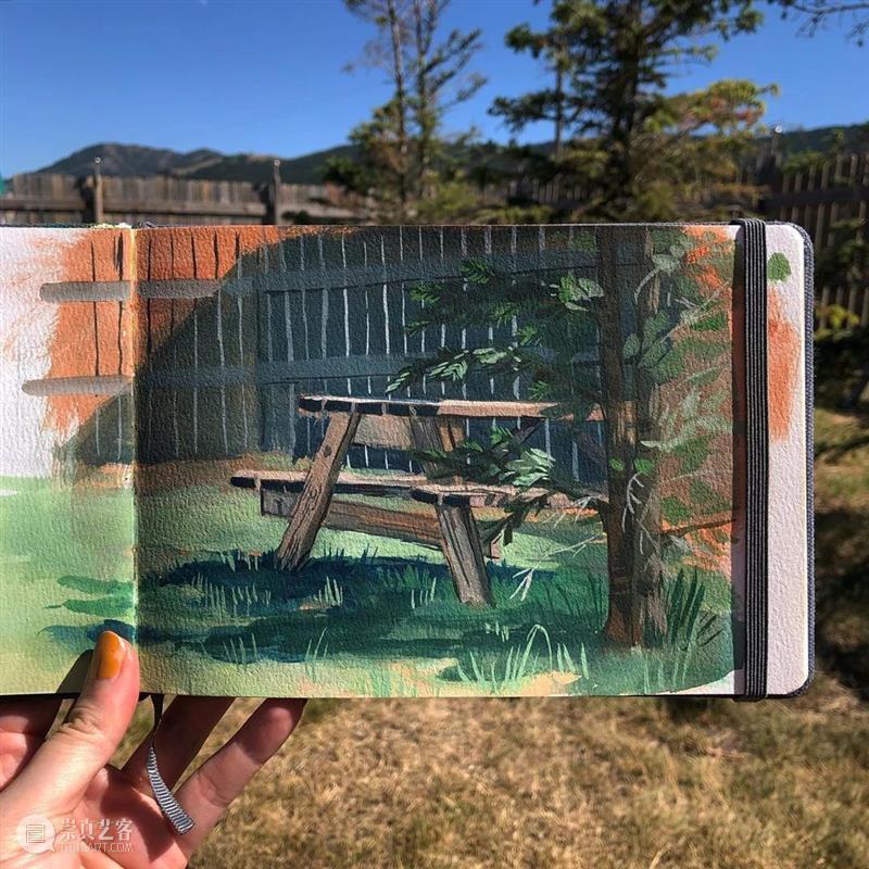 大自然的颜色是最美的!美术生一定要去写生! 大自然 颜色 美术生 志愿 目标 学校 家长 考生 程序 美术 崇真艺客