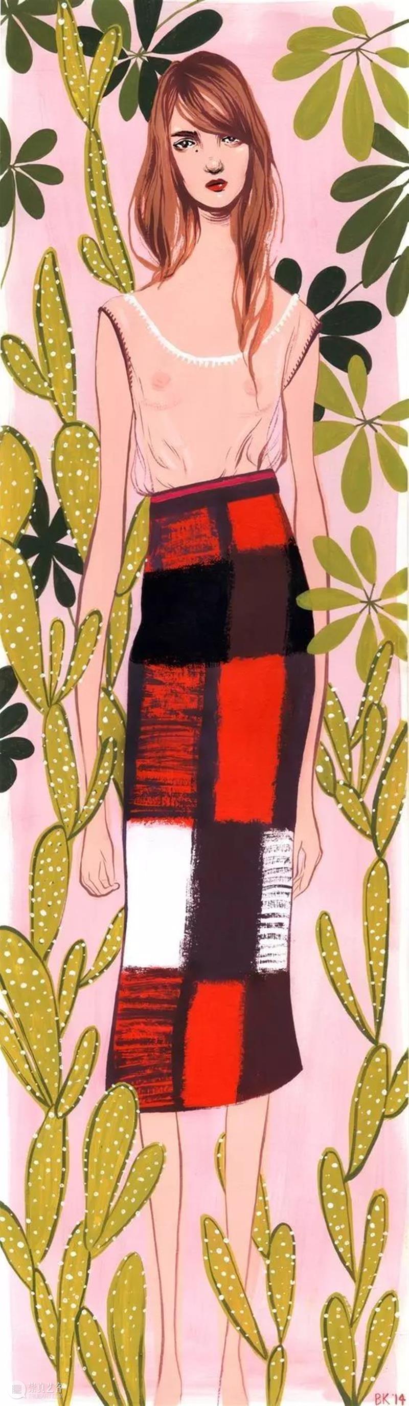 插画丨她笔下的人物时髦又有趣,神秘又忧郁 笔下 插画 人物 上方 中国舞台美术学会 右上 星标 本文 画家 联盟 崇真艺客
