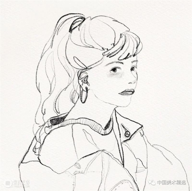 清爽干练的铅笔人像 铅笔 人像 @wonny drawing 作品 往期 好文 光影 色块 肌理 崇真艺客