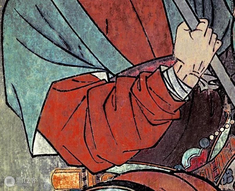 国风丨融合唐宋遗风、结合元代特点——绝美的永乐宫壁画 元代 永乐宫 壁画 遗风 特点 国风 唐宋 上方 右上 来文 崇真艺客