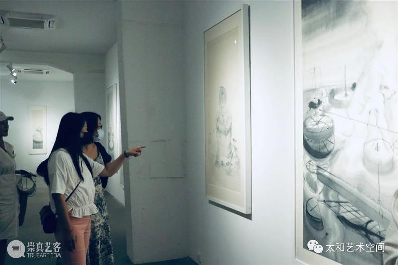 展览现场 | 当水墨遇见魔幻现实主义,李惠昌个展在京展出 李惠昌 水墨 现场 魔幻现实主义 个展 贾廷峰 西沐 学术 哼者 黑色 崇真艺客