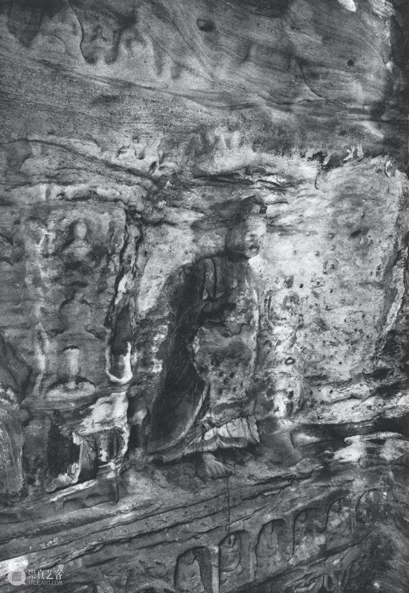 四十年代水野版云冈图集:第六窟 野版 云冈图集 中心 东面 下层 弥勒 云冈石窟 山西省 大同市西 武周山南 崇真艺客