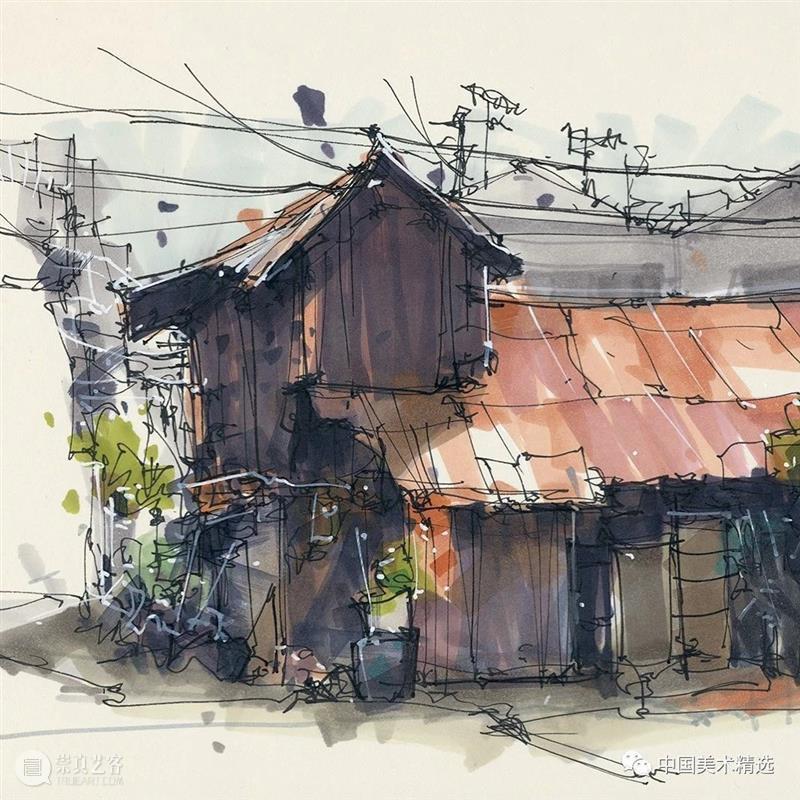 自在轻松的建筑手绘 建筑 手绘 Kiefer 荷兰 数字 艺术家 技术 动画 材料 个人 崇真艺客