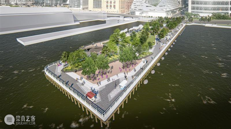纽约哈德逊广场码头公园方案公布 公园 码头 纽约哈德逊广场 方案 风景 园林 城市规划公司 melk 纽约 哈德逊河 崇真艺客