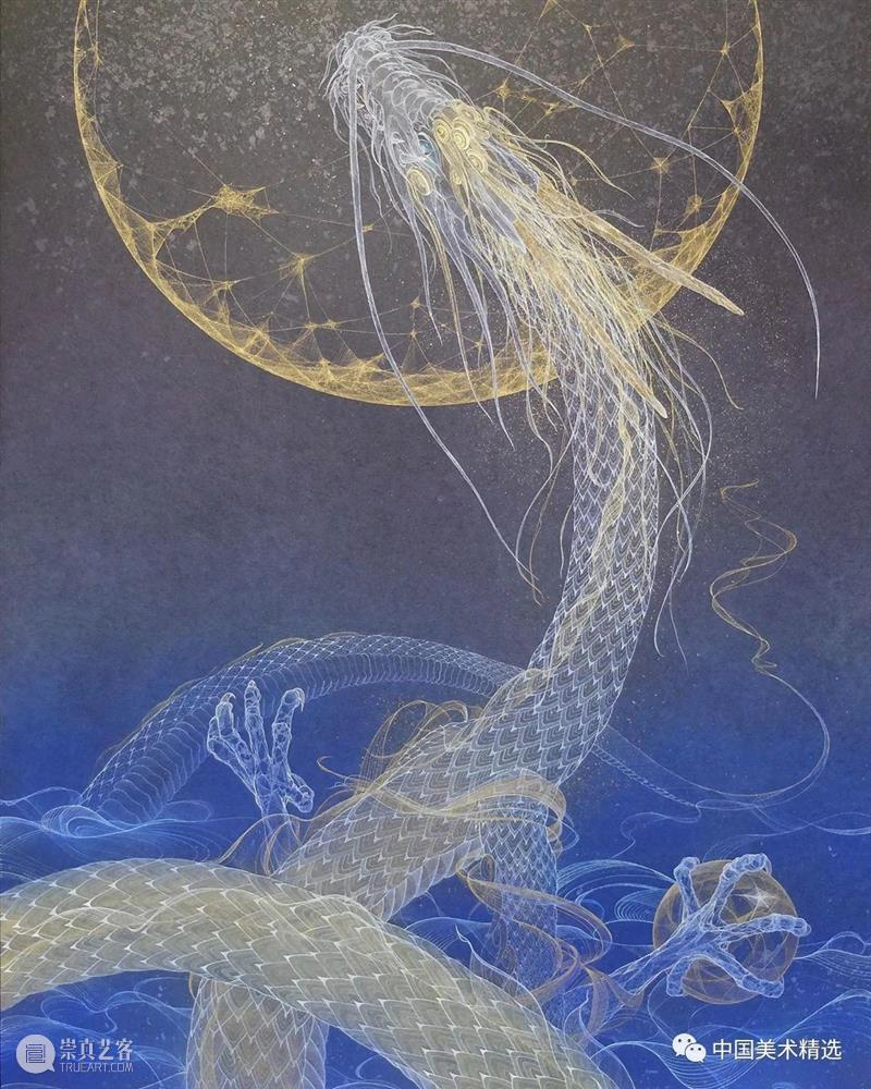 薄如蝉翼的空灵之美 蝉翼 日本 船桥 插画 小林 kobayashi 东京艺术大学 笔下 作品 梦幻 崇真艺客