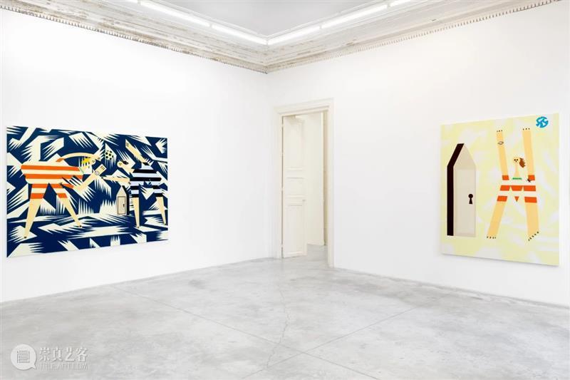 展览现场   法拉·阿塔斯(Farah Atassi)「绘画」@ 阿尔敏·莱希巴黎 法拉 阿塔斯 阿尔敏 莱希 巴黎 Atassi 现场 舞台 布面 油画 崇真艺客