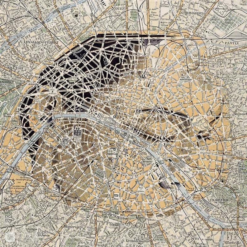 利用地图创作头像?拉远看还真是那么回事! —— ED Fairburn 地图 头像 回事 Fairburn END 崇真艺客