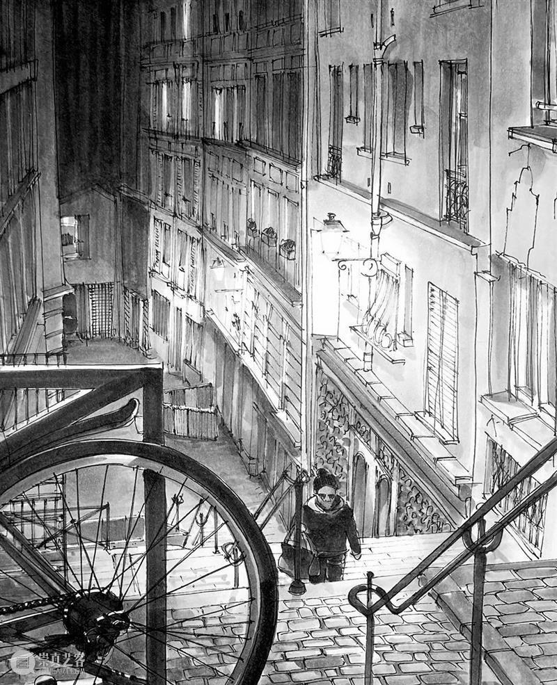 他用黑白线条改造巴黎标志性建筑 巴黎 黑白 线条 标志 建筑 Travers 悉尼 郊外 澳大利亚 艺术家 崇真艺客