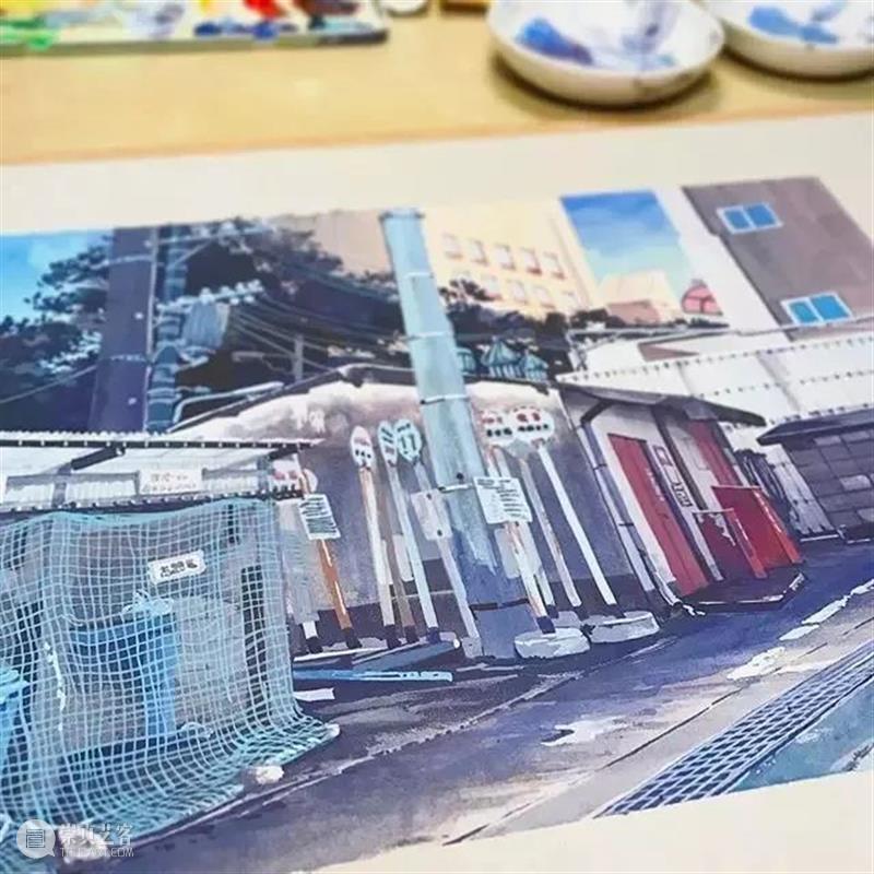 建筑丨这些美到窒息的动画场景原来都是他画的!波兰画家记录的东京 波兰 画家 动画 东京 建筑 场景 上方 右上 公众 美术志 崇真艺客