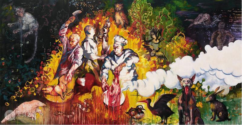 祥山 · 展评 | 石磊:绘画的巴洛克本质  莫妮卡·德玛黛 石磊 绘画 本质 祥山 展评 巴洛克 作品 族群进化 画家 眼里 崇真艺客