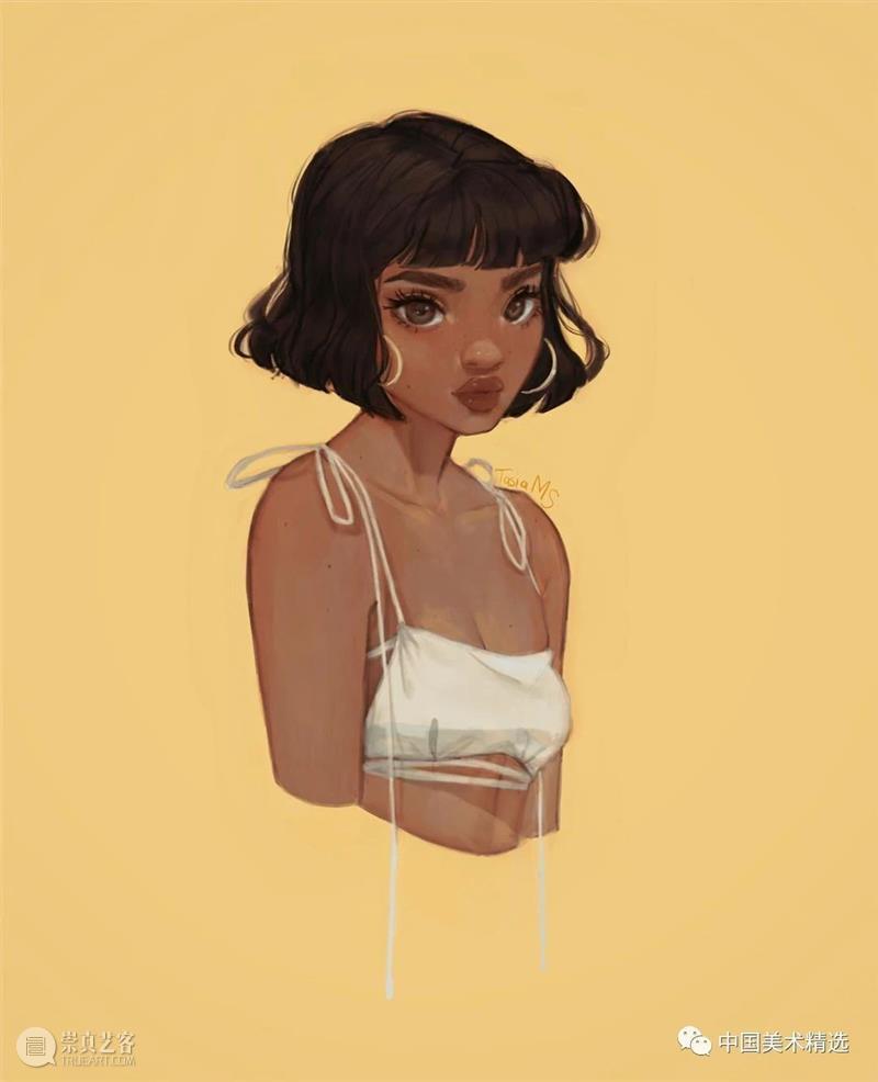 一组时装插画,抱走当头像  中国美术精选 时装 插画 头像 南非 插画家 设计师 tasia 人像 时尚 理念 崇真艺客