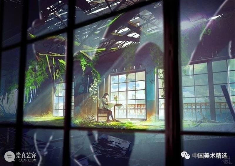 无尽的星空多灿烂 星空 日本 @mocha708 插画 二次元 世界 作品 往期 好文 生活 崇真艺客