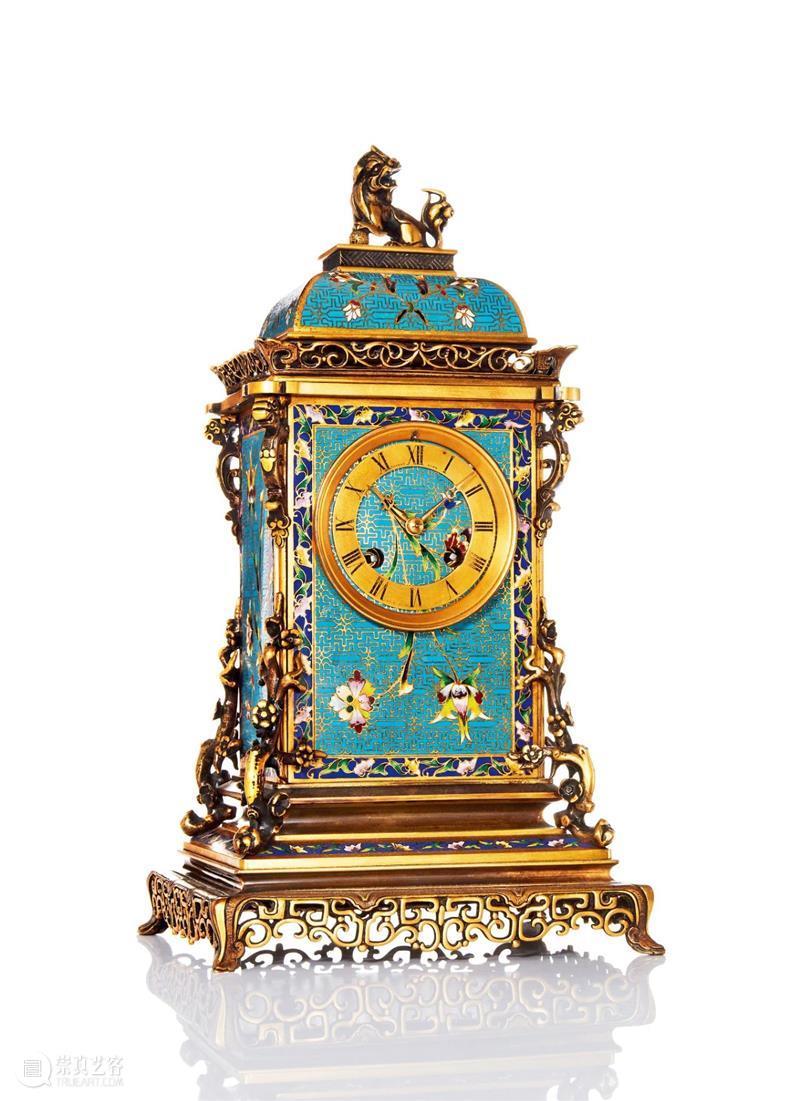 【保利十五拍卖周年】欧洲精致台钟 欧洲 保利 十五 周年 钟声 眼帘 法国 铜质 珐琅 机械 崇真艺客