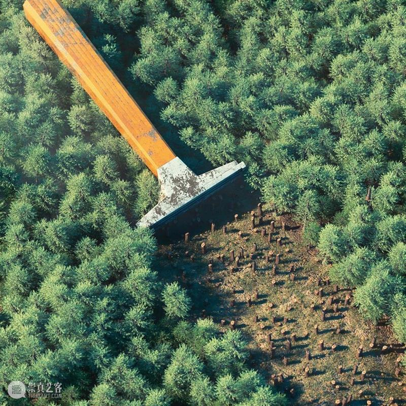 你能看懂他的创意吗?森林也能做文章,有意思 ~ 创意 森林 文章 END 崇真艺客