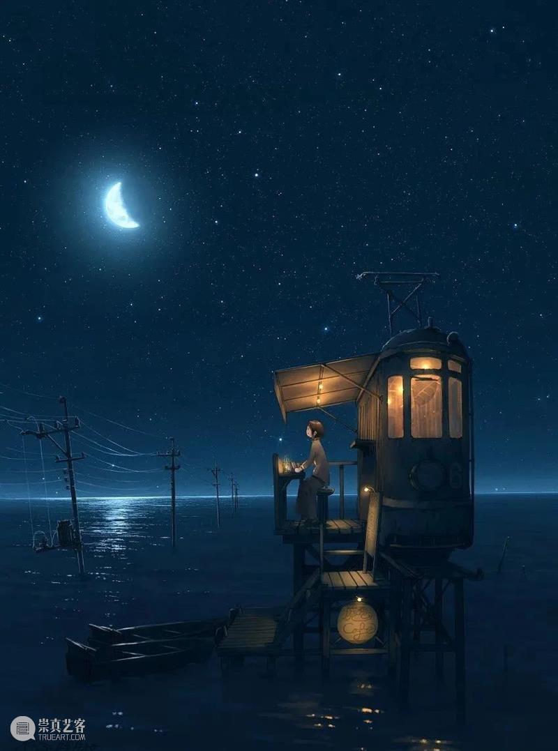 光效丨插画中梦幻温馨的光影世界,夜晚的灯光那么暖 插画 夜晚 梦幻 灯光 世界 光效 光影 上方 中国舞台美术学会 右上 崇真艺客