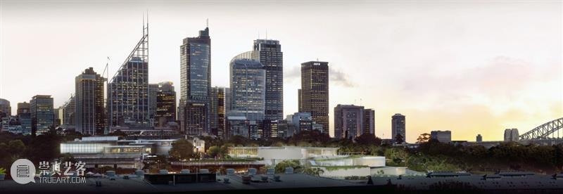 SANAA '新南威尔士美术馆'扩建方案,顺应地形的透明展亭 新南威尔士美术馆 SANAA 地形 展亭 方案 SANAA建筑事务所 澳大利亚悉尼 项目 澳大利亚 美术馆 崇真艺客