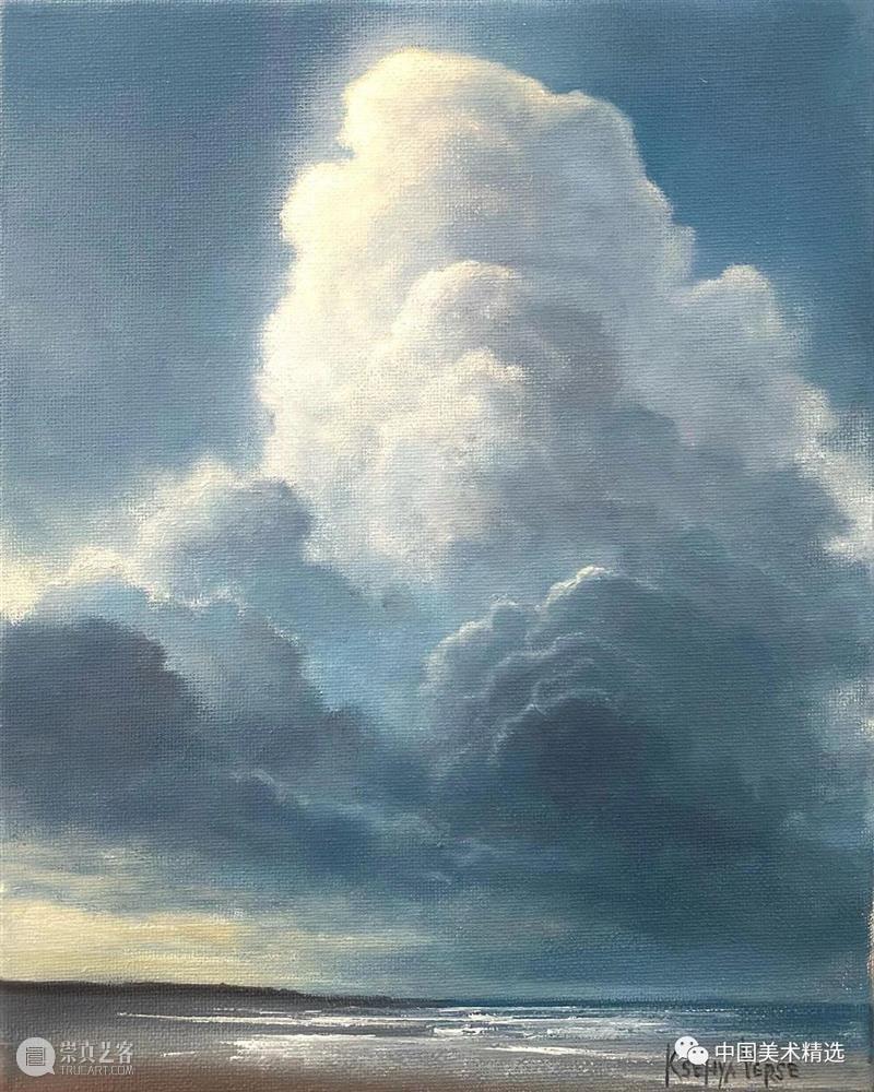 云卷云舒 云卷云舒 创造力 美国 艺术家 Ksenya Verse 天空 云层 水域 太阳 崇真艺客
