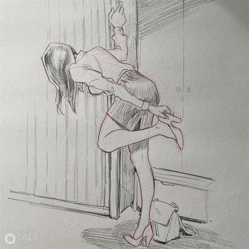 动感畅快的人物线稿 线稿 人物 动感 Hung 美国 作家 漫画家 Lee 笔下 味道 崇真艺客