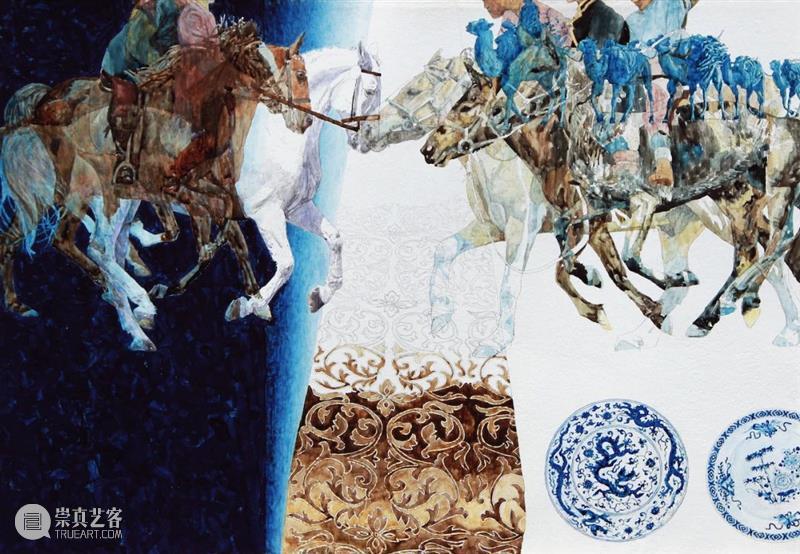 【中华艺术宫 | 每日一画】潘特纳·埃尔马·安东《丝绸之路——来自东西方的骑马人》 中华艺术宫 安东 丝绸之路 东西方 骑马人 潘特纳 埃尔马 家园 一带一路 国家 崇真艺客