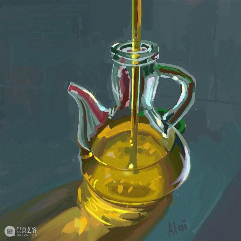 日子平淡,好在我喜欢 日子 西班牙 画家 Ganuza 静物 日常生活 笔触 色彩 细节感 作品 崇真艺客