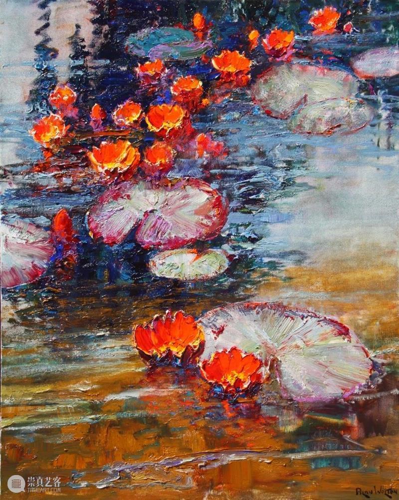 绘画丨艾伦·沃尔顿:色彩浓烈、笔触厚重、风格简约的花卉与风景 风格 绘画 色彩 艾伦·沃尔顿 笔触 花卉 风景 上方 中国舞台美术学会 右上 崇真艺客