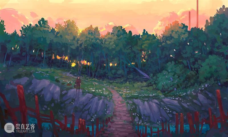 人间美好,日落和你 人间 日落 时候 小王子 俄罗斯 画师 Istomin 场景 作品 落日 崇真艺客