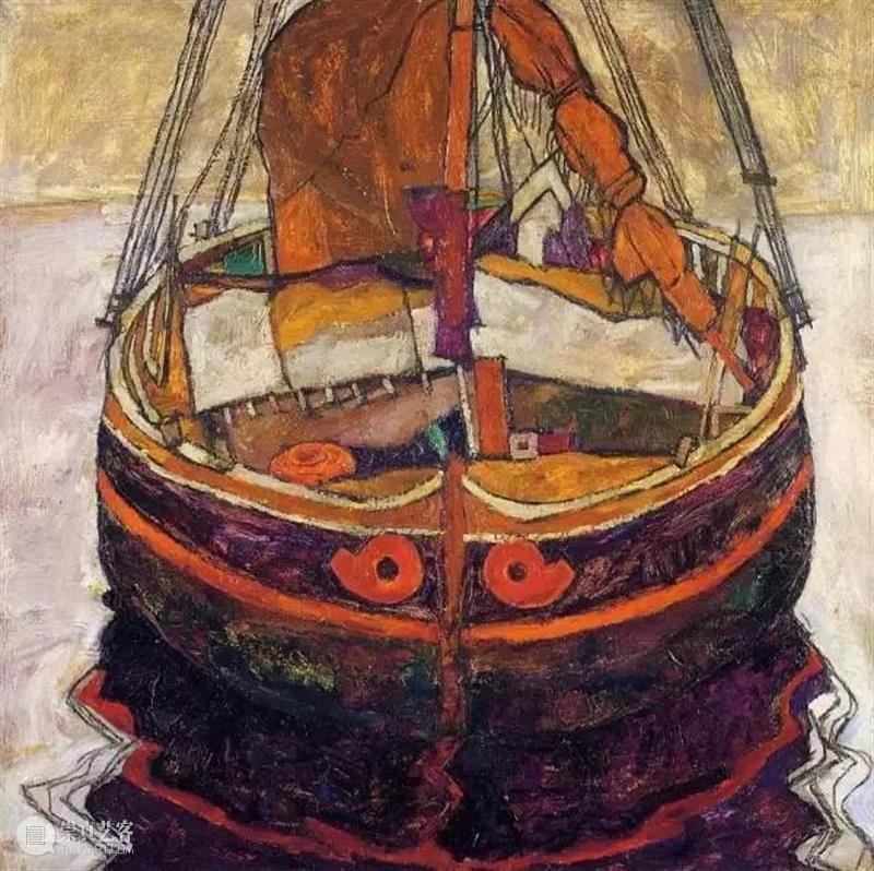 罕见!情色艺术大师席勒风景画 席勒 情色 艺术 大师 风景 维也纳分离派 代表 表现主义 画家 油画 崇真艺客